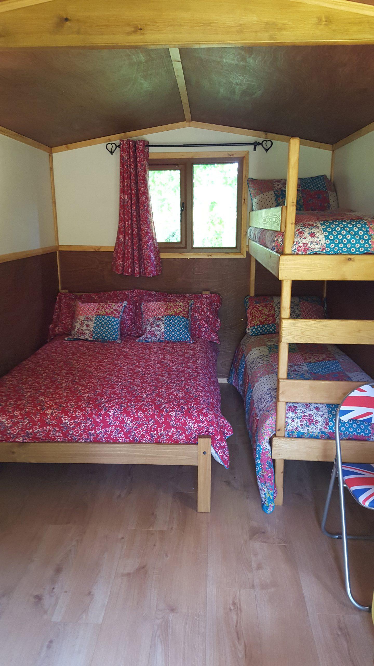 Inside Kingfisher Hut