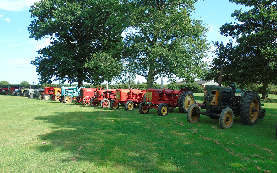 A Selection Of Our Vintage Tractors Available For Hire
