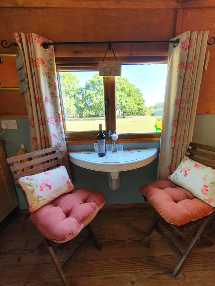 A Glass Of Wine With A View In Our Shepherds Hut